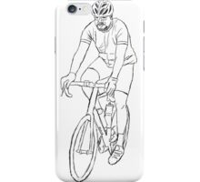 The Cyclist - Black iPhone Case/Skin