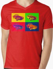 1962 Chevrolet Corvette Pop Art Mens V-Neck T-Shirt