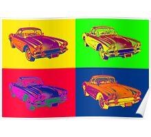 1962 Chevrolet Corvette Pop Art Poster