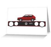 VW Golf GTI mark 1 red Greeting Card