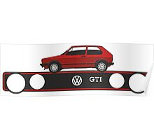 VW Golf GTI mark 1 red Poster