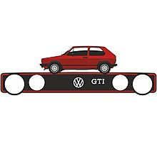 VW Golf GTI mark 1 red Photographic Print