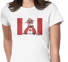 Wildago's Pearl on Canada Day Womens Fitted T-Shirt