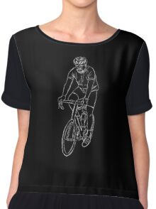 The Cyclist - White Chiffon Top
