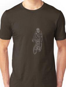 The Cyclist - White Unisex T-Shirt