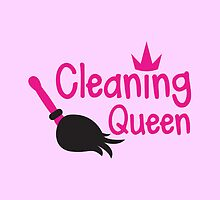 Cleaning Queen with feather duster by jazzydevil