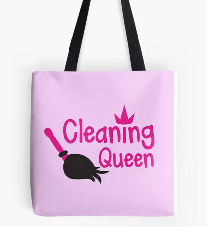 Cleaning Queen with feather duster Tote Bag