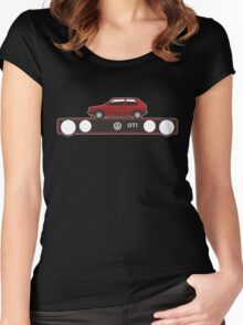 VW Golf GTI mark 1 red Women's Fitted Scoop T-Shirt