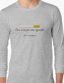 Ceci n'est pas une cigarette Long Sleeve T-Shirt