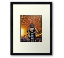 When Hell comes to visit Framed Print
