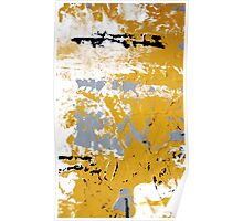 Contemporary Yellow and Gray Art Set by Artist Holly Anderson Poster