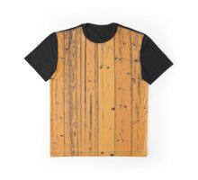 Wood Pattern Graphic T-Shirt