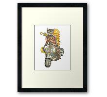 Moto Cat Framed Print