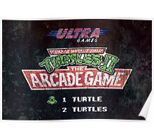Ninja Turtles II Arcade Game Poster