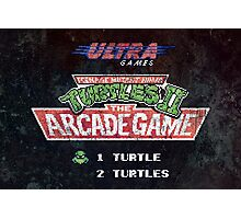 Ninja Turtles II Arcade Game Photographic Print