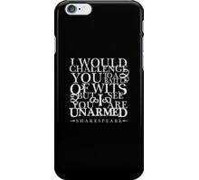 Battle of Wits Light iPhone Case/Skin
