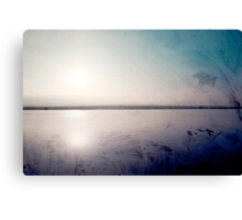 grunge sunset in a lake  Canvas Print