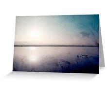 grunge sunset in a lake  Greeting Card