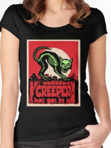 CAT CREEPER Women's Fitted Scoop T-Shirt