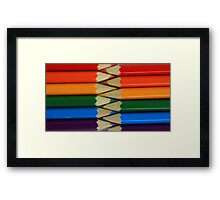 Colored Pencil Patterns Framed Print