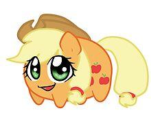 Potato chibi: Applejack by linamomokoart