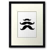 Moustache Framed Print