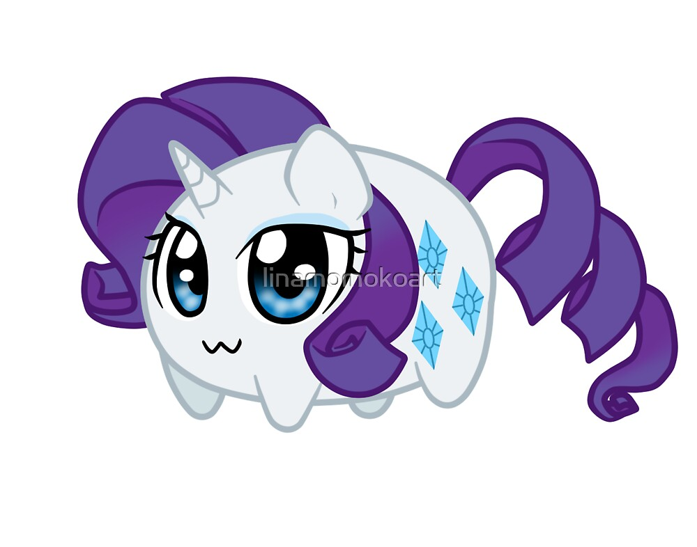 Potato chibi: Rarity by linamomokoart