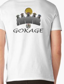 GOKAGE Mens V-Neck T-Shirt