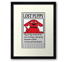 Clifford The Big Red Dog - Lost Puppy Framed Print