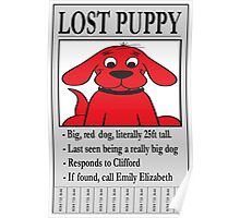Clifford The Big Red Dog - Lost Puppy Poster