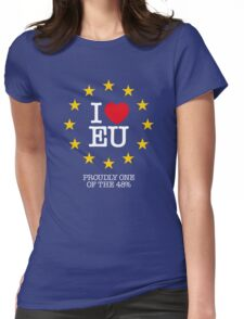 I LOVE EU - PROUDLY ONE OF THE 48% (Design #2) Womens Fitted T-Shirt