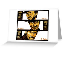 Sergio Leone: The Good, The Bad and The Ugly Greeting Card