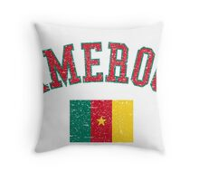 Cameroon Flag Vintage Throw Pillow