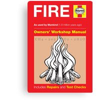 Haynes Manual - Fire - Poster & stickers Canvas Print