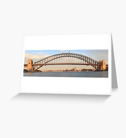 Sydney's Icons at day break Greeting Card