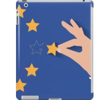 Brexit UK hand removing star from EU flag leaving just stitches behind iPad Case/Skin