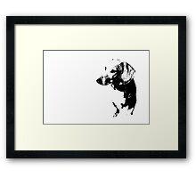 Goofy - black and white Framed Print