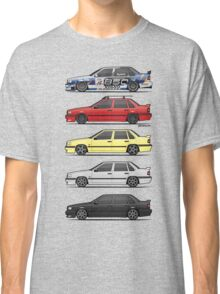Stack of Volvo 850R 854R T5 Turbo Saloon Sedans Classic T-Shirt