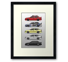 Stack of Volvo 850R 854R T5 Turbo Saloon Sedans Framed Print