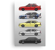 Stack of Volvo 850R 854R T5 Turbo Saloon Sedans Canvas Print