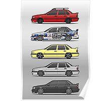 Stack of Volvo 850R 854R T5 Turbo Saloon Sedans Poster