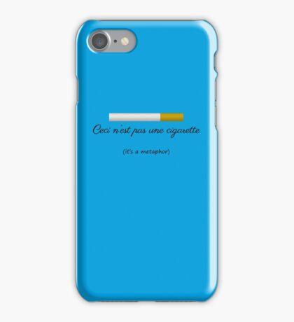 Ceci n'est pas une cigarette iPhone Case/Skin