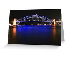 Sydney's Icons at night Greeting Card