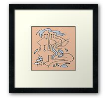 After Picasso - Cinco Framed Print