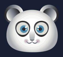 Cute Big Blue Eyed Panda Kids Tee