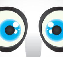 Cute Big Blue Eyed Panda Sticker