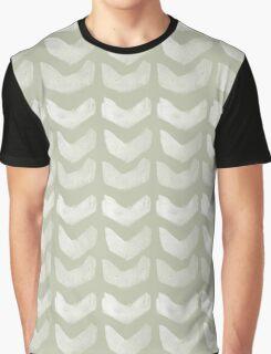 Mint Hand Painted Chevron Graphic T-Shirt