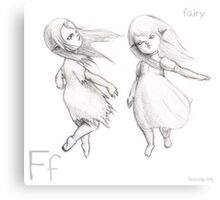 F for Fairy Canvas Print