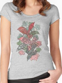 Birds in the tree Women's Fitted Scoop T-Shirt