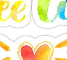 Free love. Rainbow quote Sticker